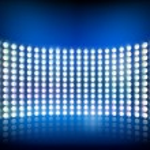 Wall of lights. Vector illustration. — Stok Vektör #33816091