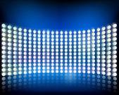 Wall of lights. Vector illustration. — Stock Vector