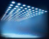 Light beams. Vector illustration. — Stock Vector
