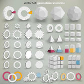 Vector Set: geometrical elements — Stock Vector
