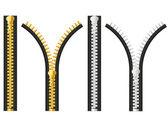 Zipper vector illustration — Stock Vector