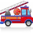 Stock Vector: Fire truck vector illustration