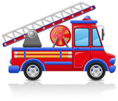 Fire truck vector illustration — Stock Vector