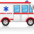 Ambulance car vector illustration — Stock Vector