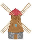 Windmill vector illustration — Stock Vector