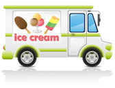 Car carrying ice cream vector illustration — Stock Vector