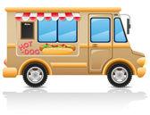 Car hot dog fast food vector illustration — Stock Vector