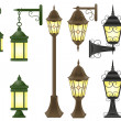 Set streetlight vector illustration - Stock Vector