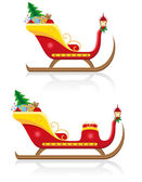 Christmas sleigh of santa claus with gifts vector illustration — Stock Vector
