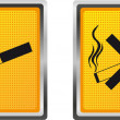 Icons cigarette for design vector illustration — ベクター素材ストック