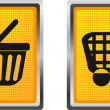 Icons shopping cart and trolley for design vector illustration — Stock Vector