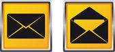 Lettera di posta icone per illustrazione vettoriale — Vettoriale Stock