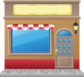 Shop facade with a showcase — Stock Vector