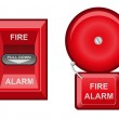 Fire alarm vector illustration — Stock Vector #13733223