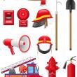 设置消防设备矢量图图标 — 图库矢量图片