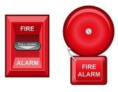 Fire alarm vector illustration — Stock Vector