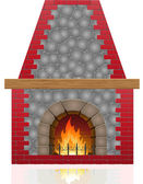 Fireplace vector illustration — Stock Vector