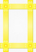 Fondo gris con rayas amarillas y una flor — Vector de stock