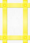 Grijze achtergrond met gele strepen en een bloem — Stockvector