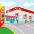 Car petrol station — Stock Vector #14856001
