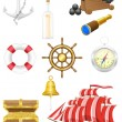 Stock Vector: Set of seantique icons vector illustration