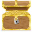 Antique treasure chest vector illustration — Векторная иллюстрация