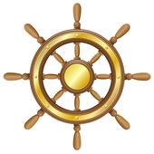 Steering wheel voor schip vectorillustratie — Stockvector