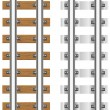 Stock Photo: Rails with concrete and wooden sleepers illustration