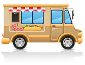 Car hot dog fast food illustration — Stock Photo
