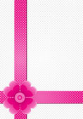 Gray background with pink stripes and a flower — Stock Photo