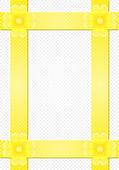 Grå bakgrund med gula ränder och en blomma — Stockfoto