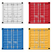 Cargo container illustration — Stock Photo