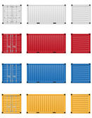 Cargo container illustration — Stok fotoğraf