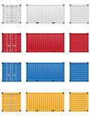 Ilustração do contêiner de carga — Foto Stock