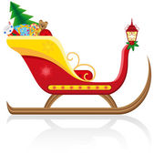 Christmas sleigh of santa claus with gifts illustration — Stock Photo