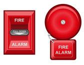 Illustrazione di allarme incendio — Foto Stock