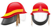 Firefighter helmet illustration — Stock Photo