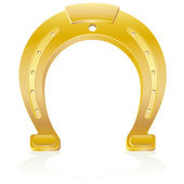 Gold horseshoe talisman charm illustration — Stock Photo
