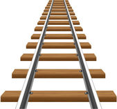 Rails with wooden sleepers illustration — Stock Photo
