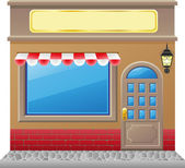 Shop facade with a showcase — Stock Photo