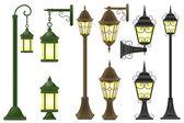 Set streetlight illustration — Stock Photo