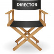 Director movie chair vector illustration — Stock Vector