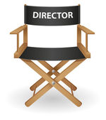 Director movie chair vector illustration — Vettoriale Stock
