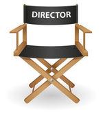 Illustration vectorielle de directeur film chaise — Vecteur
