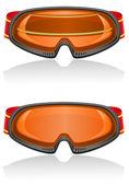 Vektör çizim kayak gözlüğü — Stok Vektör