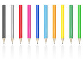 Colour pencils pens vector illustration — Stock Vector