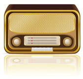 Retro radio vector illustration — Stock Vector