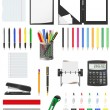 Stationery set icons vector illustration — Stock Vector