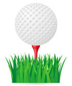 Golf ball vector illustration — Stock Vector