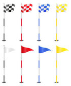 Golf flags vector illustration — Stock Vector